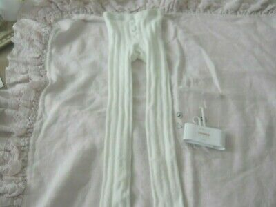 409d9b3ba8822 Hanna Andersson Footless Ankle Tights 130/140 Size 8-10 Off White Pointelle  NWT