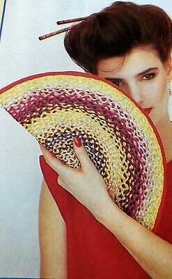 Vintage Raffia Pattern How to make a Plaited Raffia Bag or Purse