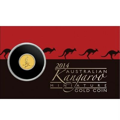 2014 Australia Perth Mint Kangaroo $2 Two Dollar Gold Coin Pack Sealed