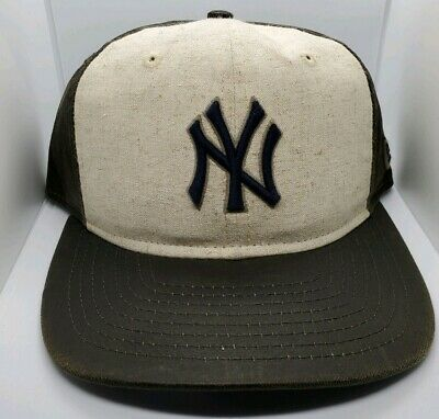 220f26140 New York NY Yankees New Era MLB Baseball Vintage Waxed 9FIFTY Snapback Cap  Hat