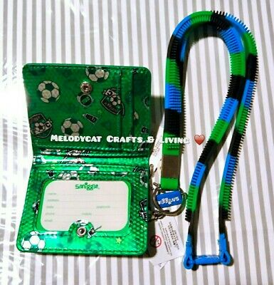 Smiggle Card Holder W Removable Silicone Lanyard Tricolours, Soccer
