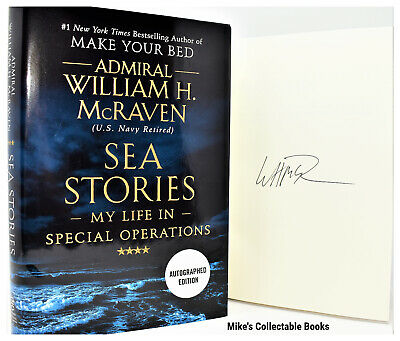 SIGNED / AUTOGRAPHED SEA STORIES Admiral William H. McRaven (Make Your Bed) COA