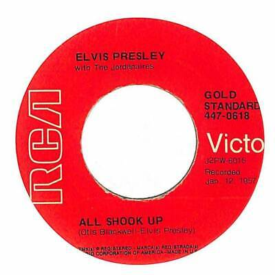 """Elvis Presley With The Jordanaires - All Shook Up - Import - 7"""" Vinyl Record"""