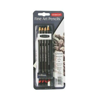 Derwent Charcoal Mixed Media, Pack, 8 Count (0700664)