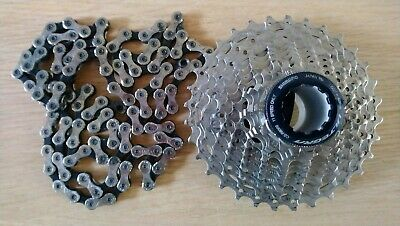 Shimano Ultegra (CS8000/R8000) Cassette 11-32 and KMC X93 chain (11 speed)