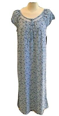 Croft & Barrow Women's Butterflies Printed Lace Nightgown Size S, 3X. 4X - NWT!