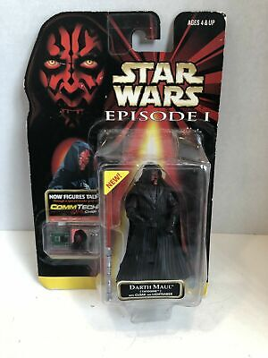 Kenner Star Wars Episode 1 Commtech Darth Maul With Cloak Tatooine