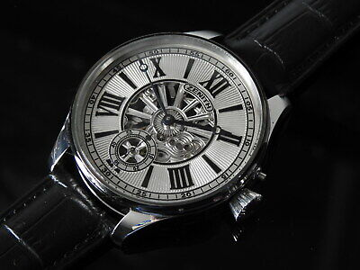 ZENITH Swiss Rare collectable Stainless Steel Skeleton Men's wristwatch 46mm