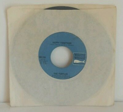 The Turtles -Happy Together & Like The Seasons 45 RPM White Whale WW 244 TESTED
