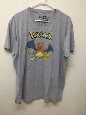 d540d893 Pokemon T Shirt Extra Large XL Pikachu Squirtle Charizard Shirt Mens  Graphic Tee