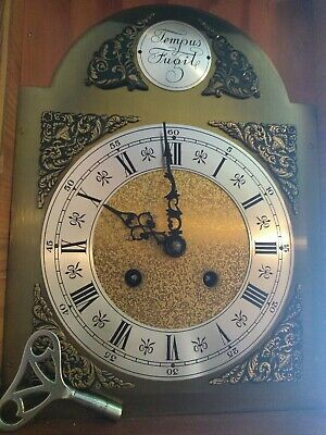 Tempus Fugit  Mantle Clock with Key!  Made in Germany, Great Clock.