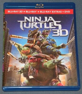 NINJA TURTLES . BLURAY blu ray - 3D + 2D + Disco Extras - Tortugas Ninja 2014