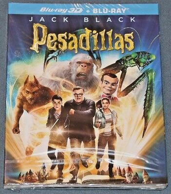 PESADILLAS . BLURAY blu ray - 3D y 2D  - Goosebumps - Jack Black