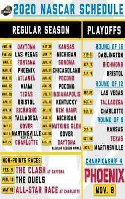 graphic regarding Printable Nascar Schedules named 2019 NASCAR CUP Routine Magnet Monster Electricity Racing Race