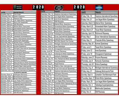 photograph about Printable Nascar Schedule named 2019 NASCAR CUP Agenda Magnet Monster Electric power Racing Race