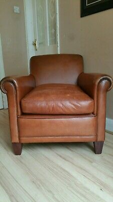 Laura ashley burlington leather armchair