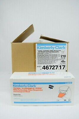 Kimberly-Clark PFR95 N95 Particulate Filter Respirator and Surgical Mask 210 New