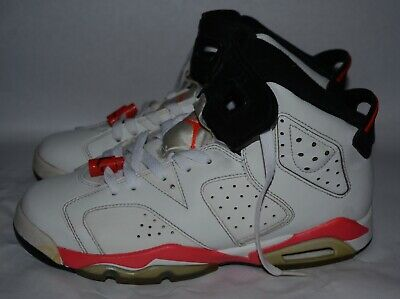 d3a532987b6 Nike Air Jordan 6 Retro White Infrared Athletic Shoes 384665-123 Size 6.5Y