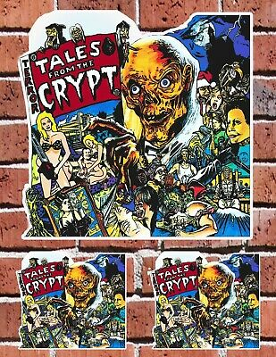 TALES FROM THE CRYPT 80s Horror Show Custom Decal Set Sticker Bundle