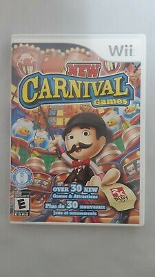 New Carnival Games (Nintendo Wii, 2010) Complete Game Disc Case Manual