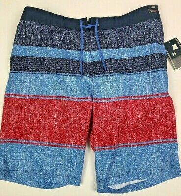 ba6a067852 Roundtree & Yorke Mens NWT Swim Trunk Board Shorts Striped Size L Large New