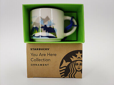Starbucks You Are Here Collection Ornament Alaska Collectible 2 Oz Mug
