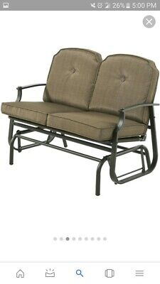 Swell Mainstays Wentworth Outdoor Glider Bench Seats 2 162 78 Andrewgaddart Wooden Chair Designs For Living Room Andrewgaddartcom