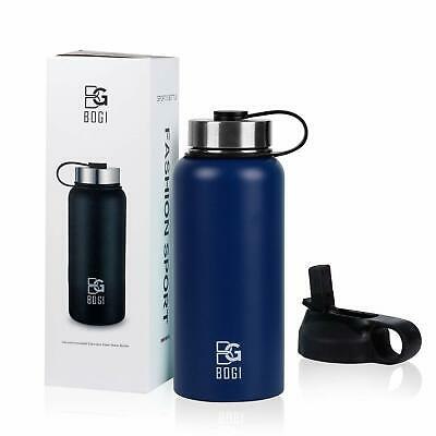 BOGI 32oz Insulated Water Bottle Double Wall Vacuum Stainless Steel Bottle