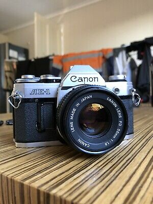 Canon AE-1 with 50mm 1.8 35mm Film Camera