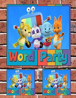 WORD PARTY Kids Learning Show Custom Decal Set Sticker Bundle