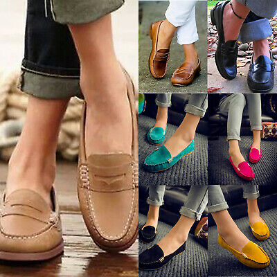 Women Casual Slip On Shoes Moccasins Comfort Driving Flat Loafers Office Fashion