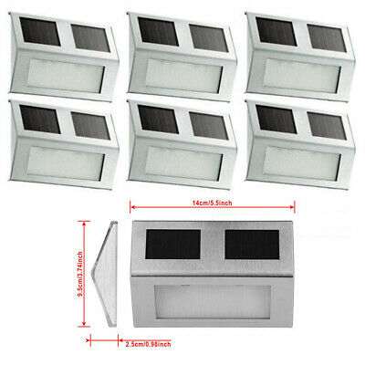 Super Bright Solar Powered Door Fence Wall on Lights LED Outdoor Garden Lighting