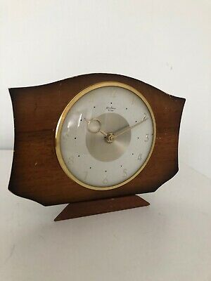 Vintage Wooden Case Bentima 8 Day Mantel Clock Made in France