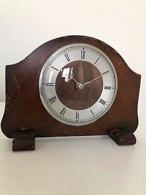 Vintage Retro Wind Up Wooden Mantle Clock Made in Great Britain