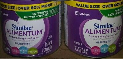 Lot of 2- Similac Alimentum Formula 19.8 Oz fast ship hurry almost gone