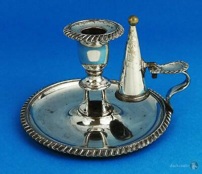 William IV OLD SHEFFIELD PLATE CHAMBER CANDLESTICK c1835 Waterhouse & Co