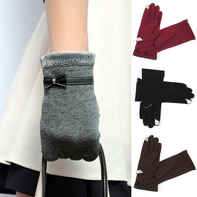 Lady Gloves Touch Screen Warm Gloves Outdoor Driving Gloves Mittens Gifts Winter