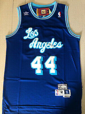 Los Angeles Lakers #44 Jerry West Retro Blue Basketball Jersey Size: S-XXL