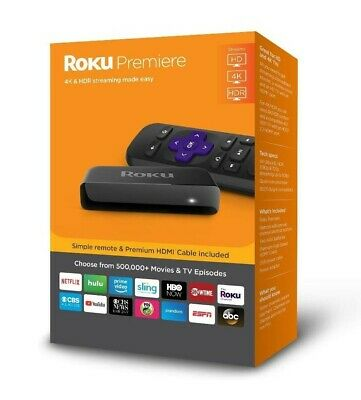 Roku Premiere HD/4K/HDR Streaming Media Player with Simple Remote and Premium H