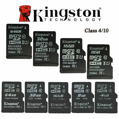 Kingston 16GB C10 C4 Micrto SD SDHC TF Memory Card Micro SD for Phone camera