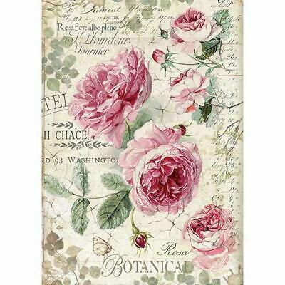 Rice Paper - Decoupage - Stamperia - 1 x A4 Size Sheet - English Roses