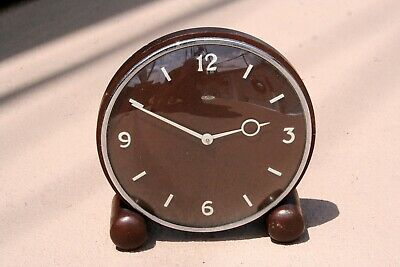 Metamec Electric Art Deco Oak Mantle Clock