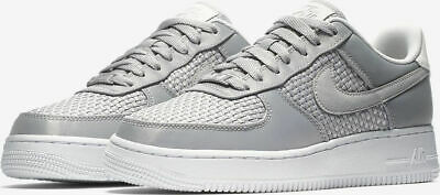 Junior's Nike Air Force 1 07 Se Silver Grey Trainers Aa0287-004