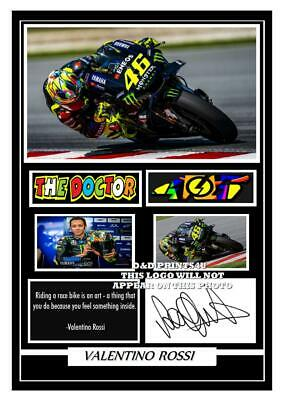 (##79)  valentino rossi signed a4 photo/mounted/framed (reprint)  great gift ###