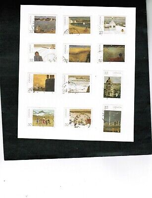 CANADA DAY 1984 32c SOUVENIR SHEET stamps used cat set $10.00 #1016-27  LOT 304