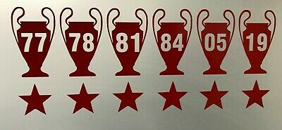 Liverpool FC 6x Champions League Vinyl Decal window car bike wall laptop sticker