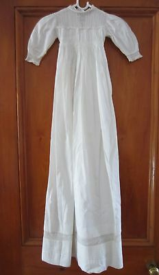 Gorgeous Antique CHRISTENING GOWN / DRESS - Cotton & Lace