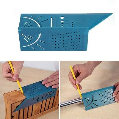Portable 3D Mitre Square Angle Measuring Woodworking Gauge Ruler Multifunction