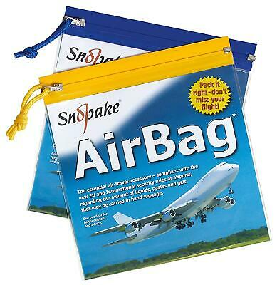 Airport Security Flight Air Bag Zip Pull Clear Plastic For Liquids 5Pack 20X20cm