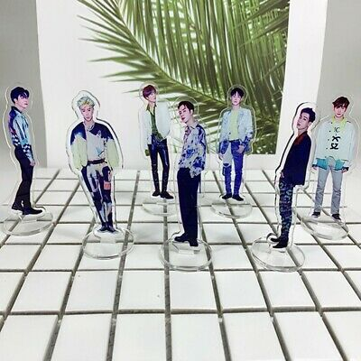 Kpop GOT7 Spinning Top Acrylic Standee Figure Doll Standing Action Table Decor